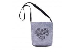 Filcová kabelka na kovový zip 0008-39