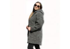 Kabát s kapucí z ovčí vlny DIANA -11