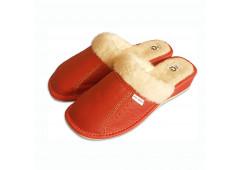 Pantofle na klínku ČERVENÉ
