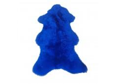Ovčí kůže barvená modrá