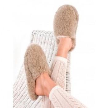 Vlněné pantofle nízké