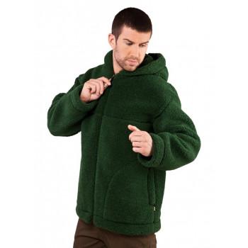 Pánská bunda z ovčí vlny s kapucí