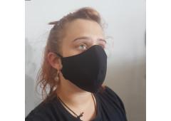 Bavlněná ochranná rouška dvouvrstvá ČERNÁ
