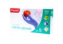 PACLAN nitrilové rukavice S modré 100 ks