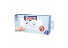 Spontex EXTRA pracovní rukavice vinylové bílé , 100 ks